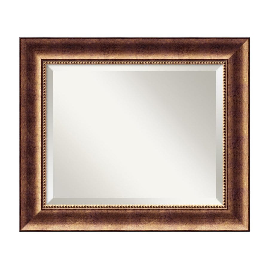 Amanti Art Manhattan Burnished Bronze Beveled Wall Mirror