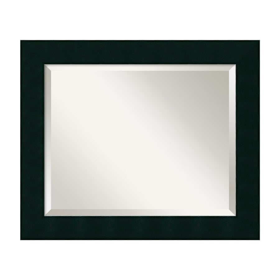 Shop Amanti Art Tribeca Black Beveled Wall Mirror At