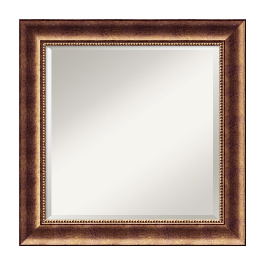 Amanti Art Manhattan Burnished Bronze Beveled Square Wall Mirror