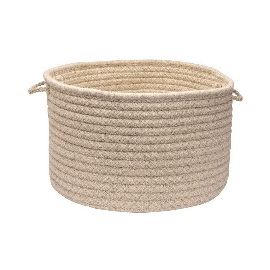 Colonial Mills 18-in W x 12-in H x 18-in D Cream Fabric Basket