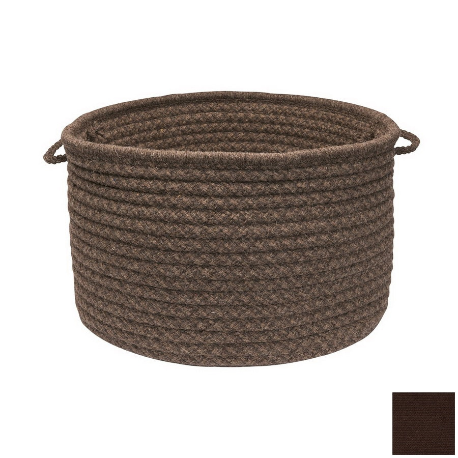 Colonial Mills 18-in W x 12-in H x 18-in D Cocoa Fabric Basket