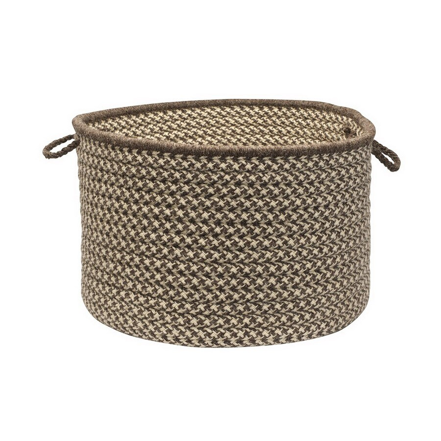 Colonial Mills 18-in W x 12-in H x 18-in D Espresso Fabric Basket