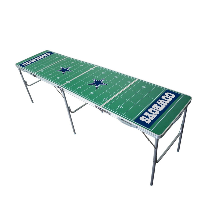Wild Sports 96-in x 24-in Rectangle Cast Aluminum Dallas Cowboys Folding Table