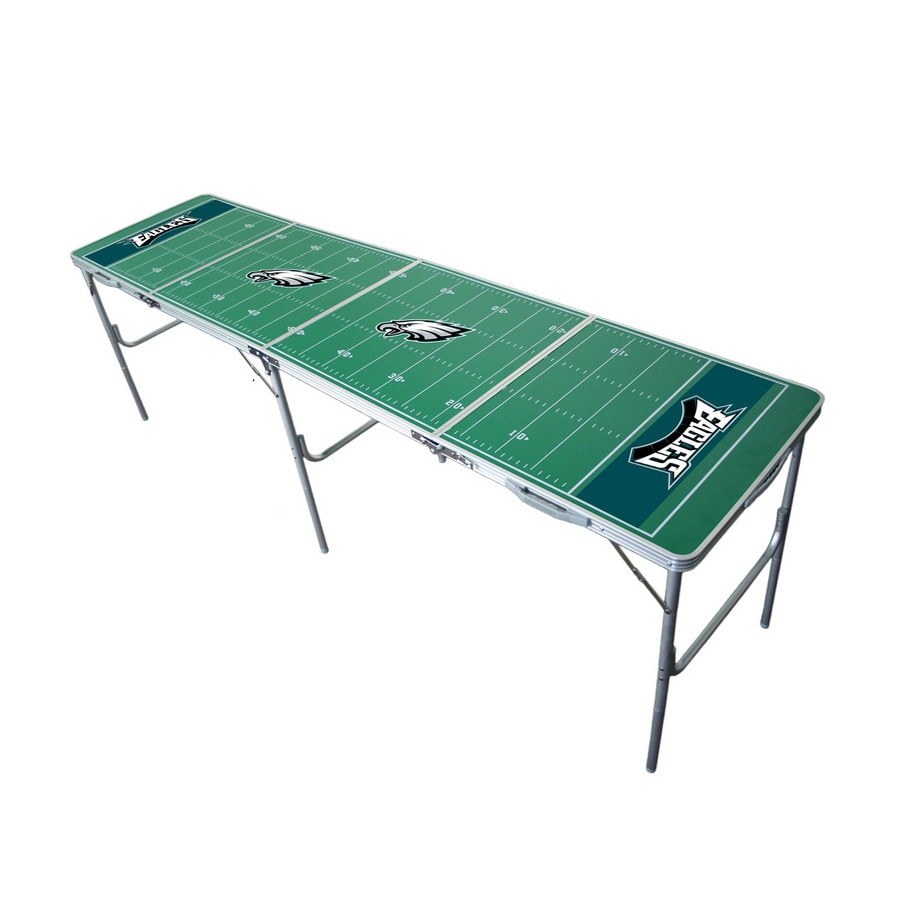 Shop Wild Sports 96 In X 24 In Rectangle Cast Aluminum Philadelphia Eagles Folding Table At