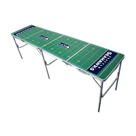 Wild Sports 96 In X 24 In Rectangle Cast Aluminum Seattle Seahawks Folding  Table