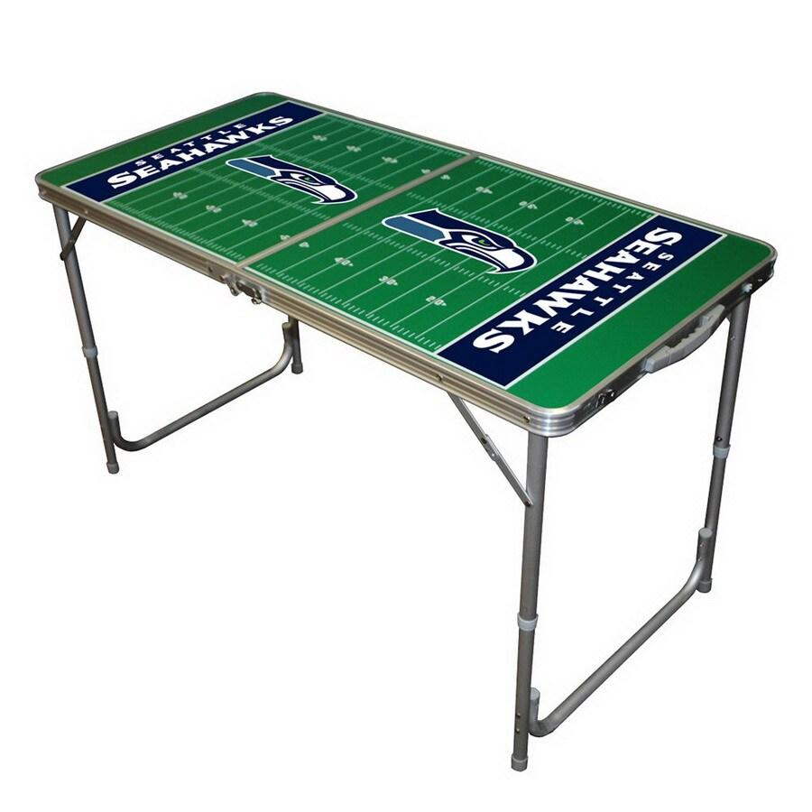 Wild Sports 48-in x 24-in Rectangle Cast Aluminum Seattle Seahawks Folding Table
