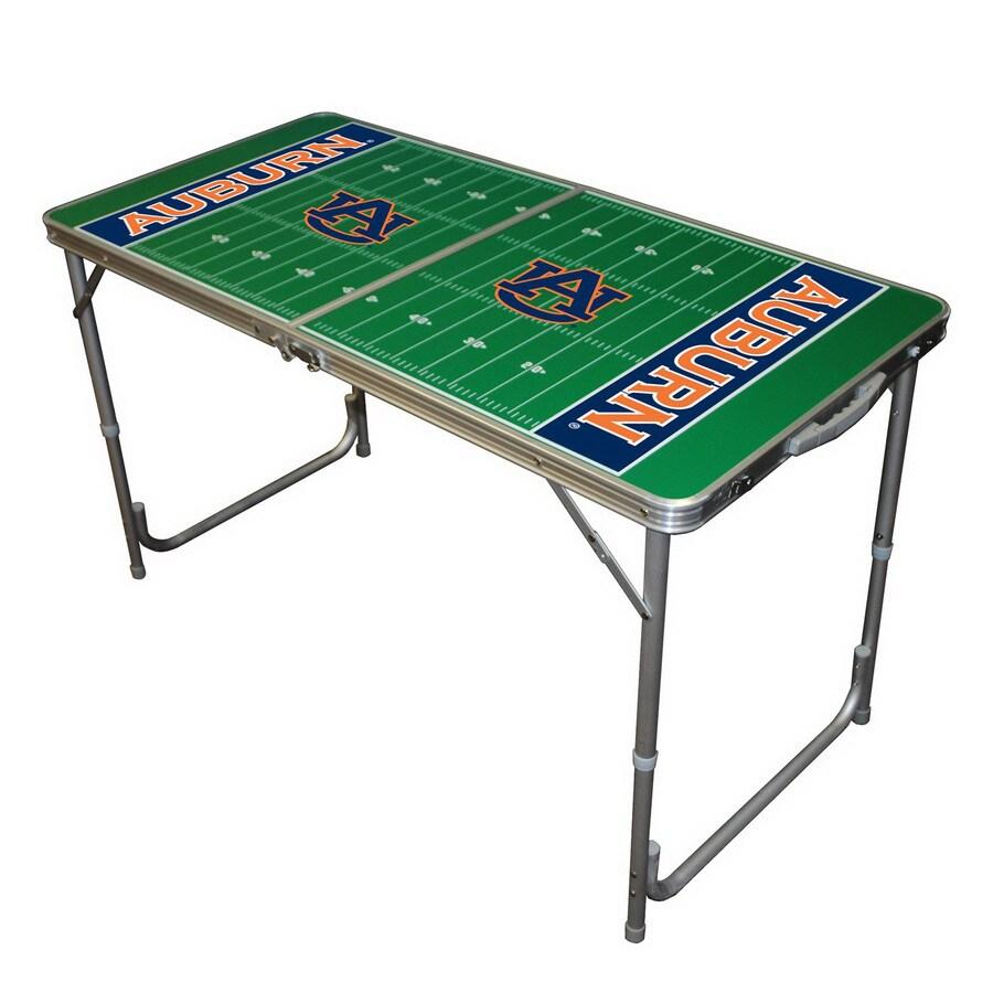 Wild Sports 48-in x 24-in Rectangle Cast Aluminum Auburn Tigers Folding Table
