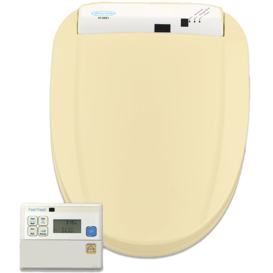 HomeTECH Feel Fresh Plastic Elongated Slow Close Feature Heated Bidet Function Toilet Seat