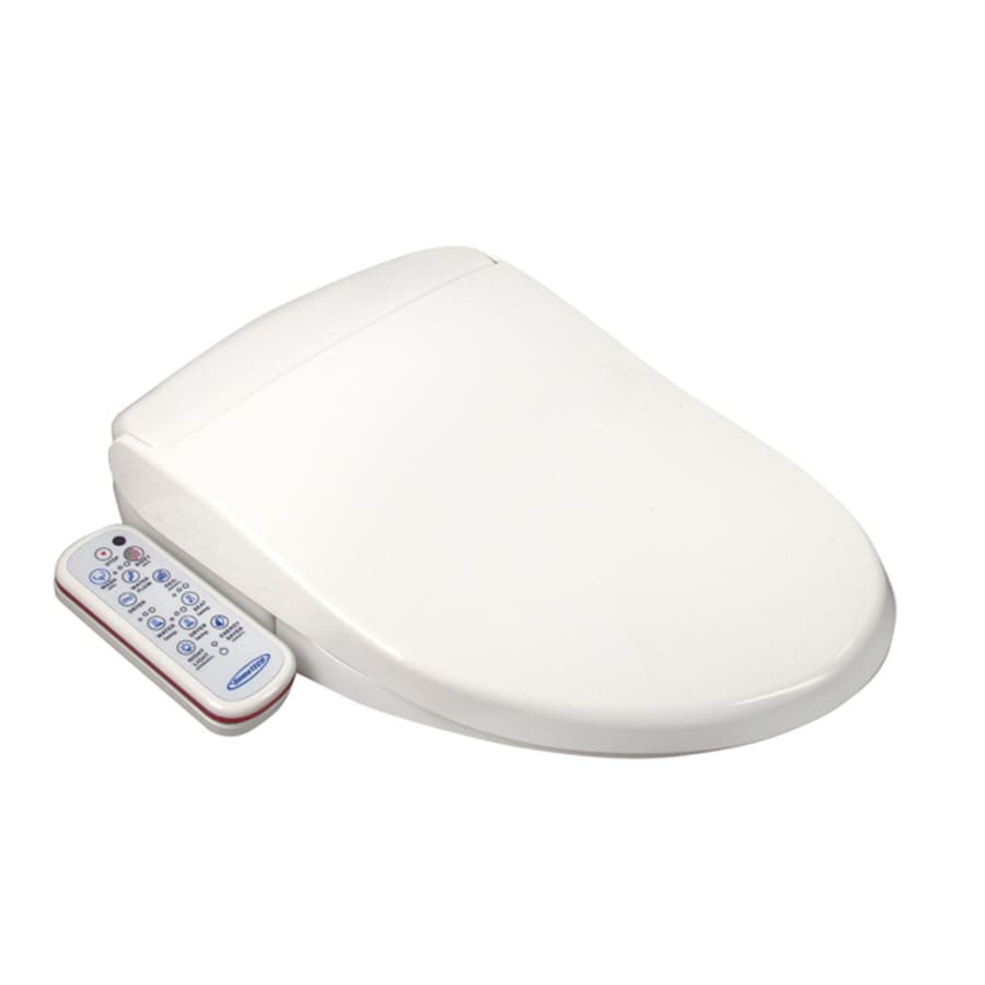 Shop hometech feel fresh plastic elongated slow close heated bidet toilet seat at - Bidet heated toilet seat ...