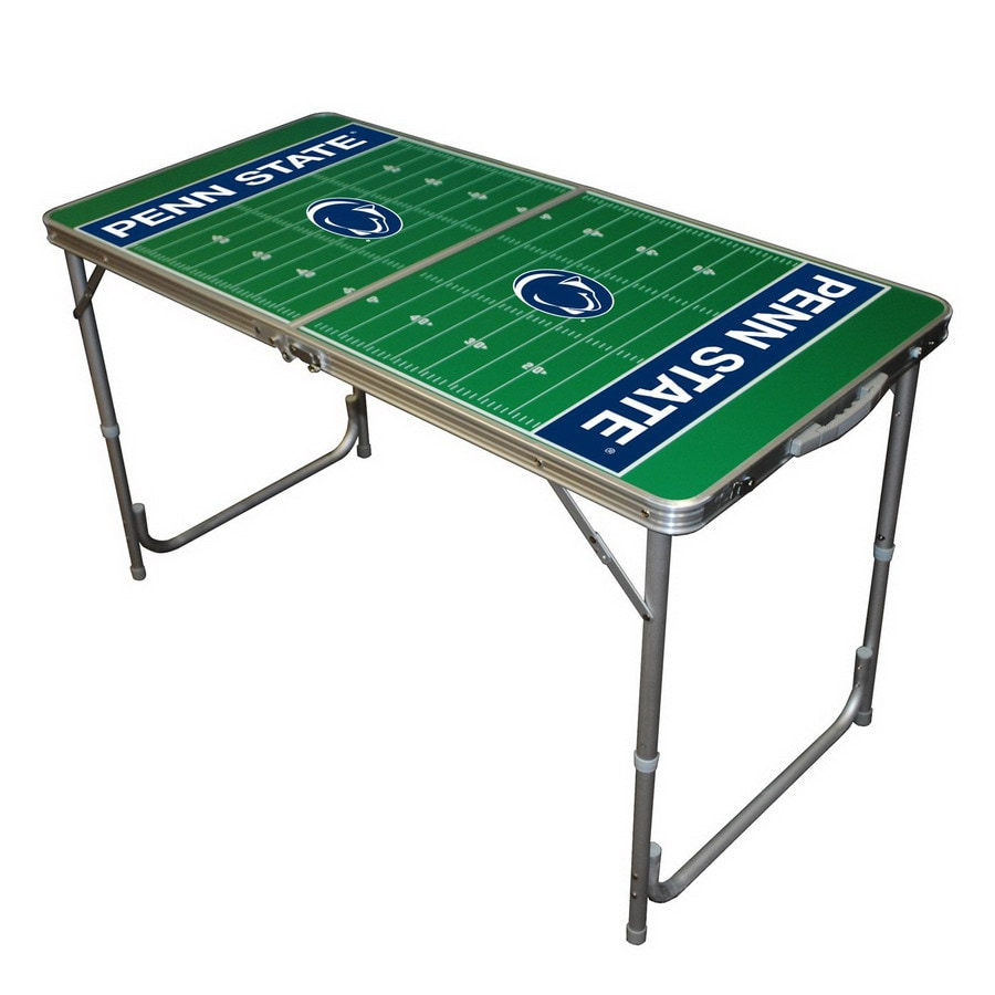 Wild Sports 48-in x 24-in Rectangle Cast Aluminum Penn State Nittany Lions Folding Table