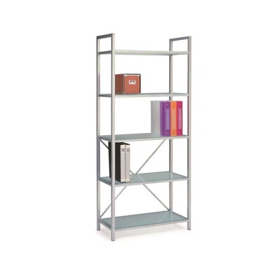 Silver Metal 5 Shelf Bookcase At Lowes