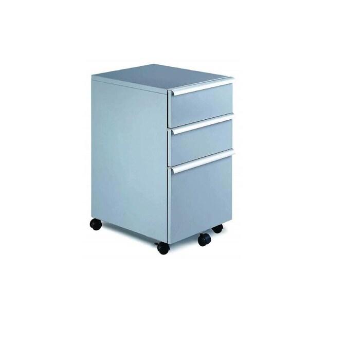 New Spec Black 3 Drawer File Cabinet In