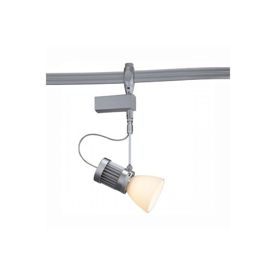 Bruck Lighting Systems Matte Chrome Led Linear Track Head