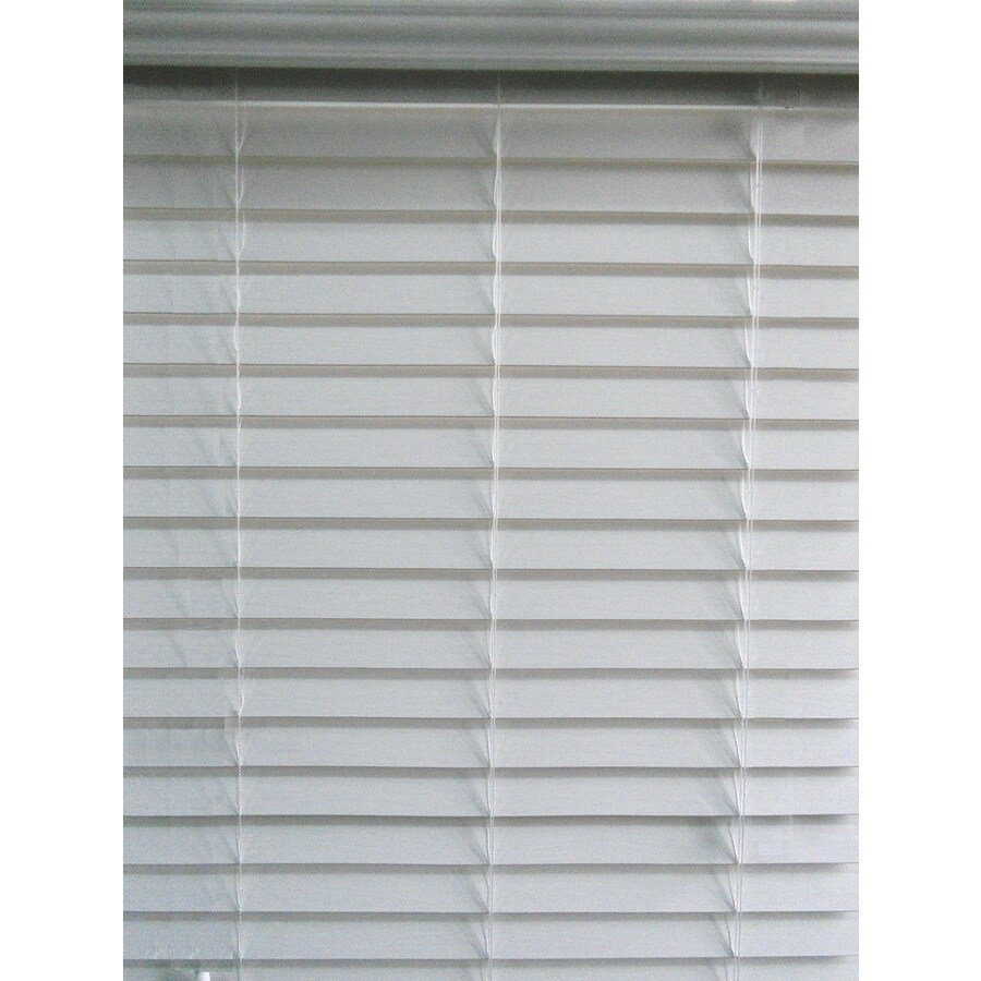 allen + roth 2.5-in Cordless White Faux Wood Room Darkening Plantation Blinds (Common: 70-in; Actual: 69.5-in x 48-in)