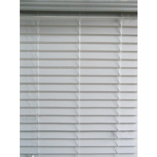 Allen Roth 2 5 In Cordless White Faux Wood Blinds
