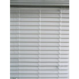 Allen Roth 2 5 In Cordless White Faux Wood Room Darkening Horizontal Blinds