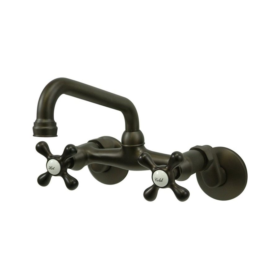 Elements of Design Oil-Rubbed Bronze 2-Handle Wall Mount High-Arc Bar and Prep Faucet