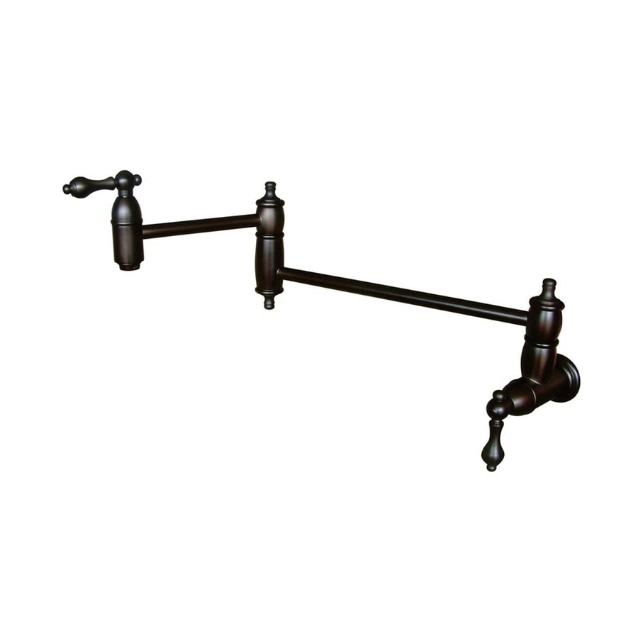 Elements of Design Restoration Oil-Rubbed Bronze 2-Handle Pot Filler Wall Mount Kitchen Faucet