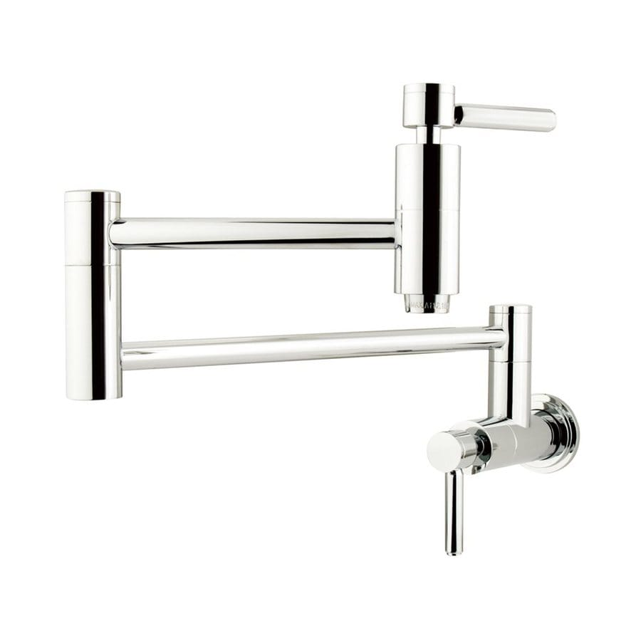 Elements of Design Concord Chrome 2-Handle Pot Filler Wall Mount Kitchen Faucet