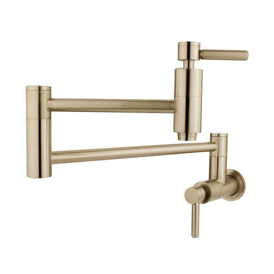 Elements of Design Concord Satin Nickel 2-Handle Pot Filler Wall Mount Kitchen Faucet