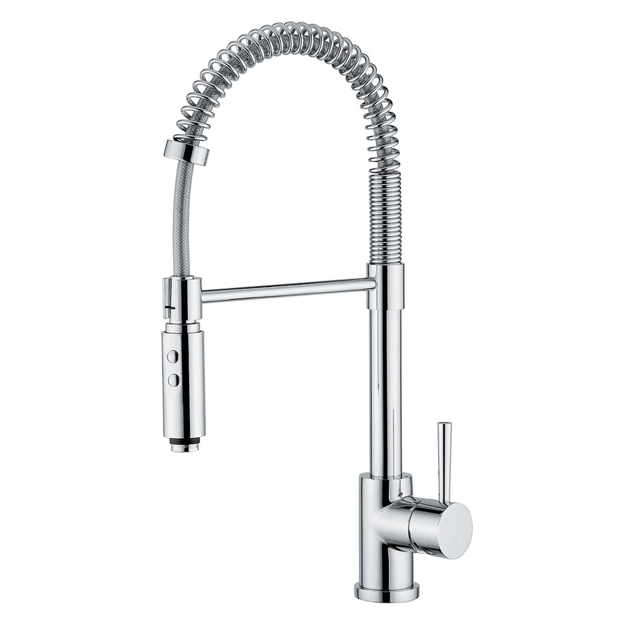 WS Bath Collections Linea Polished Chrome 1-Handle Pull-Down Kitchen Faucet