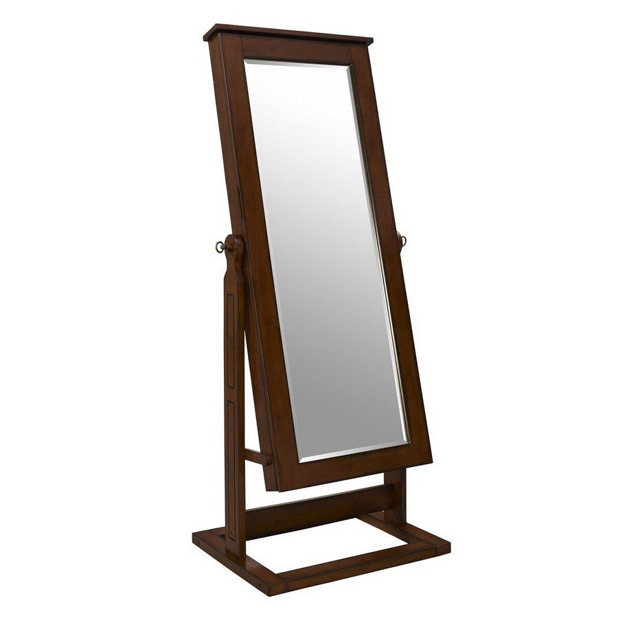 Shop Powell Walnut Cheval Mirror Jewelry Armoire At Lowes Com