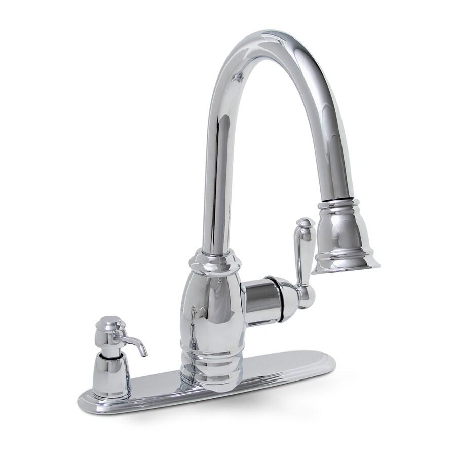 Shop Premier Faucet Sonoma Chrome 1 Handle Pull Down Kitchen Faucet At