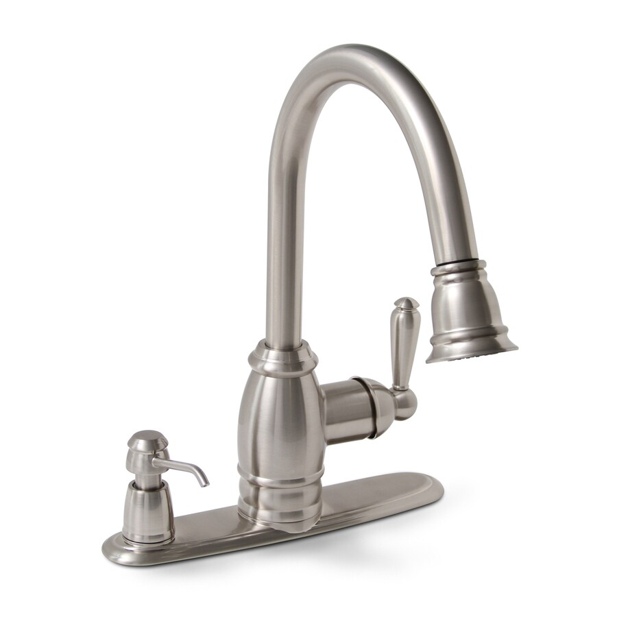 Shop Premier Faucet Sonoma Brushed Nickel 1 Handle Pull Down Kitchen Faucet At