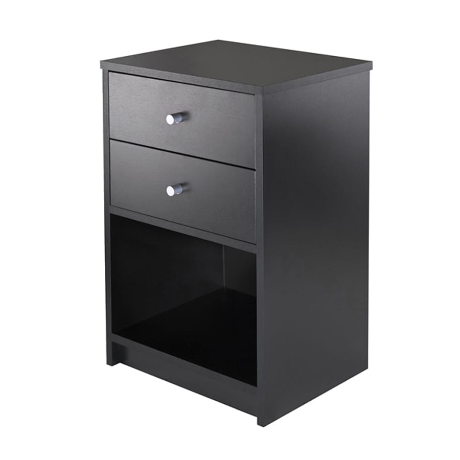 Winsome Wood Ava Black Nightstand