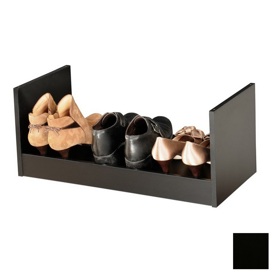 Rack-N-Cabinets Black Wood Shoe Storage