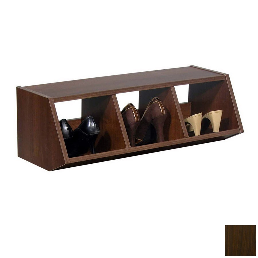 Venture Horizon Dark Walnut Wood Shoe Storage