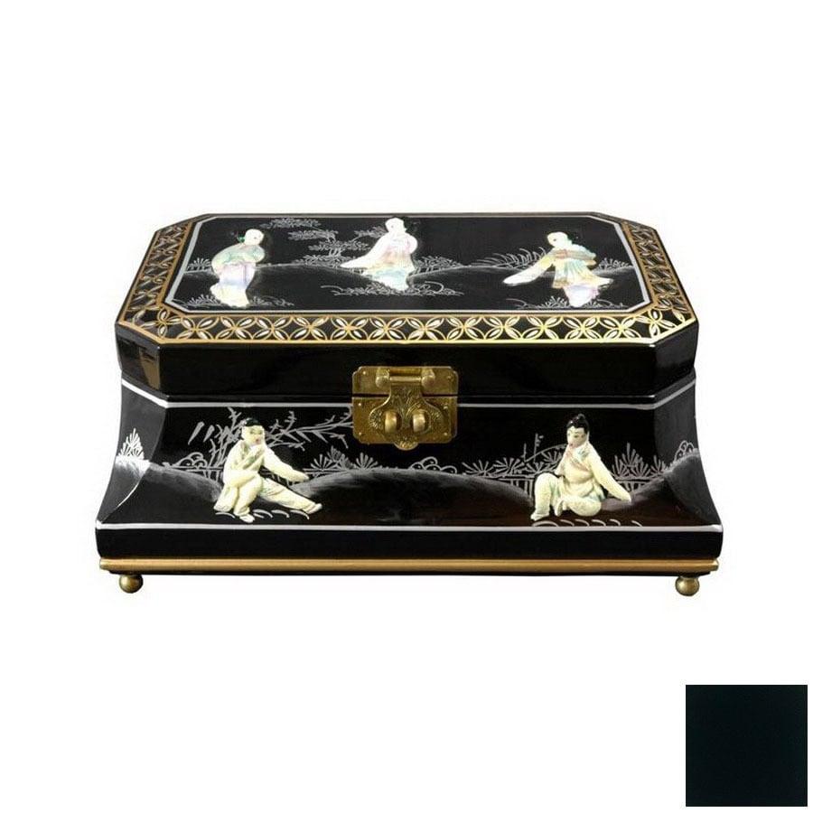 Oriental Furniture Adorlee Black Tabletop Jewelry Armoire