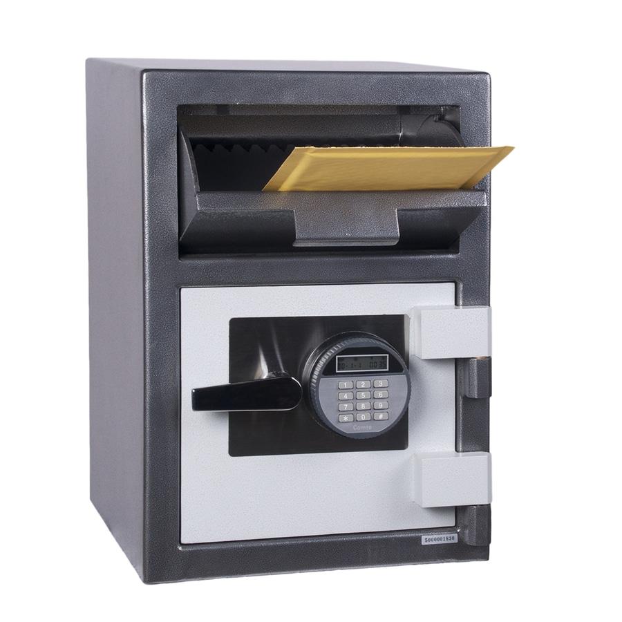Shop hollon 1 cu ft electronic keypad drop box safe at for 1 51 cu ft solid steel digital floor safe