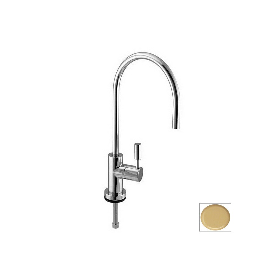 Westbrass Contemporary Powdercoated Almond 1 Handle High Arc Kitchen Faucet In The Kitchen Faucets Department At Lowes Com