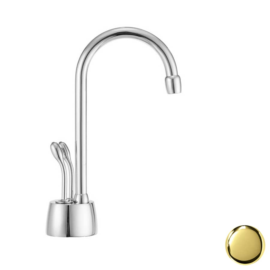 Westbrass Polished Brass Hot Water Dispenser with High Arc Spout