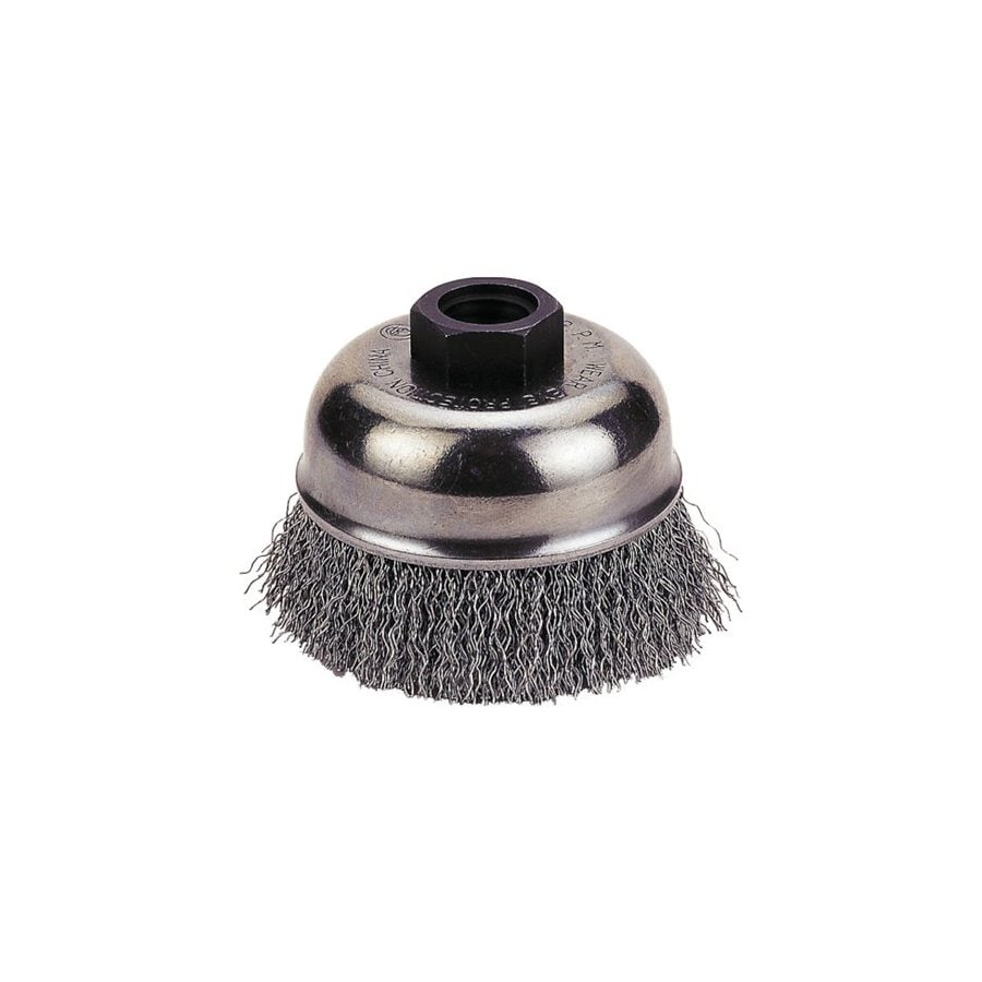 Firepower 4-in Dia Crimped Wire Cup Brush