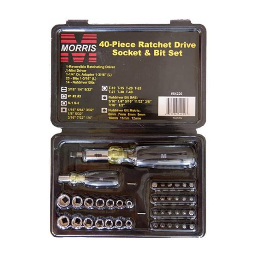 Morris Products 40-Piece-in Ratcheting Multi-Bit Screwdriver