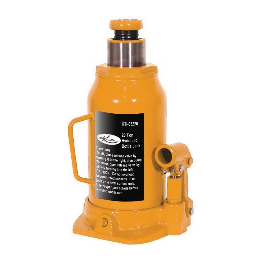 K Tool International 20-Ton Hydraulic Bottle Jack