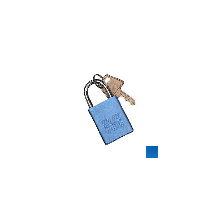 Morris Products 0.75-in Blue Aluminum Shackle Keyed Padlock