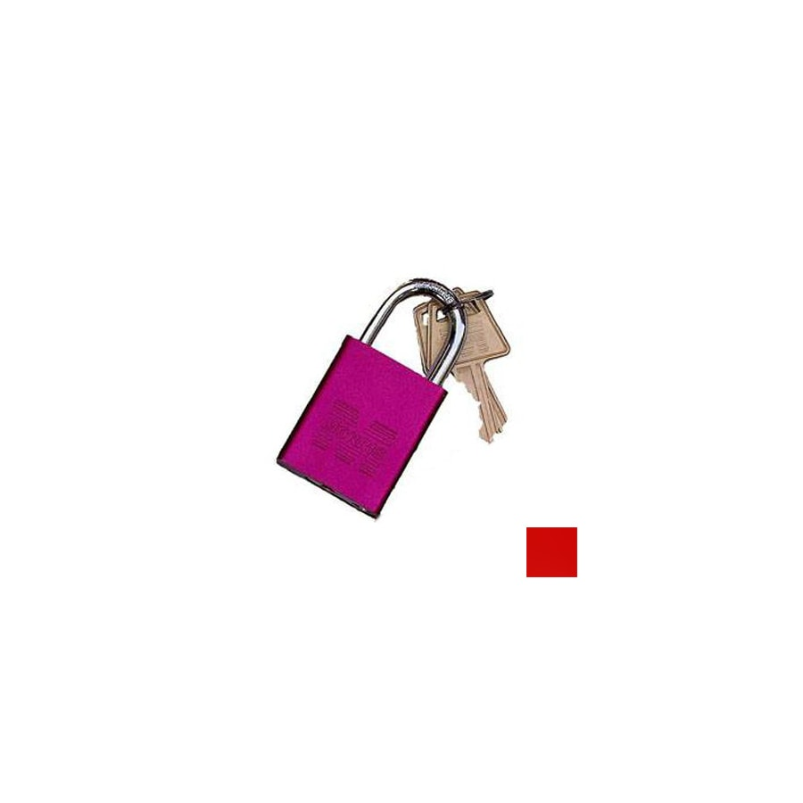 Morris Products 0.75-in Red Aluminum Shackle Keyed Padlock