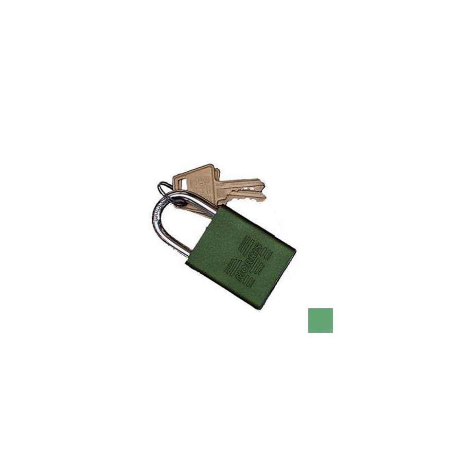 Morris Products 0.75-in Green Aluminum Shackle Keyed Padlock
