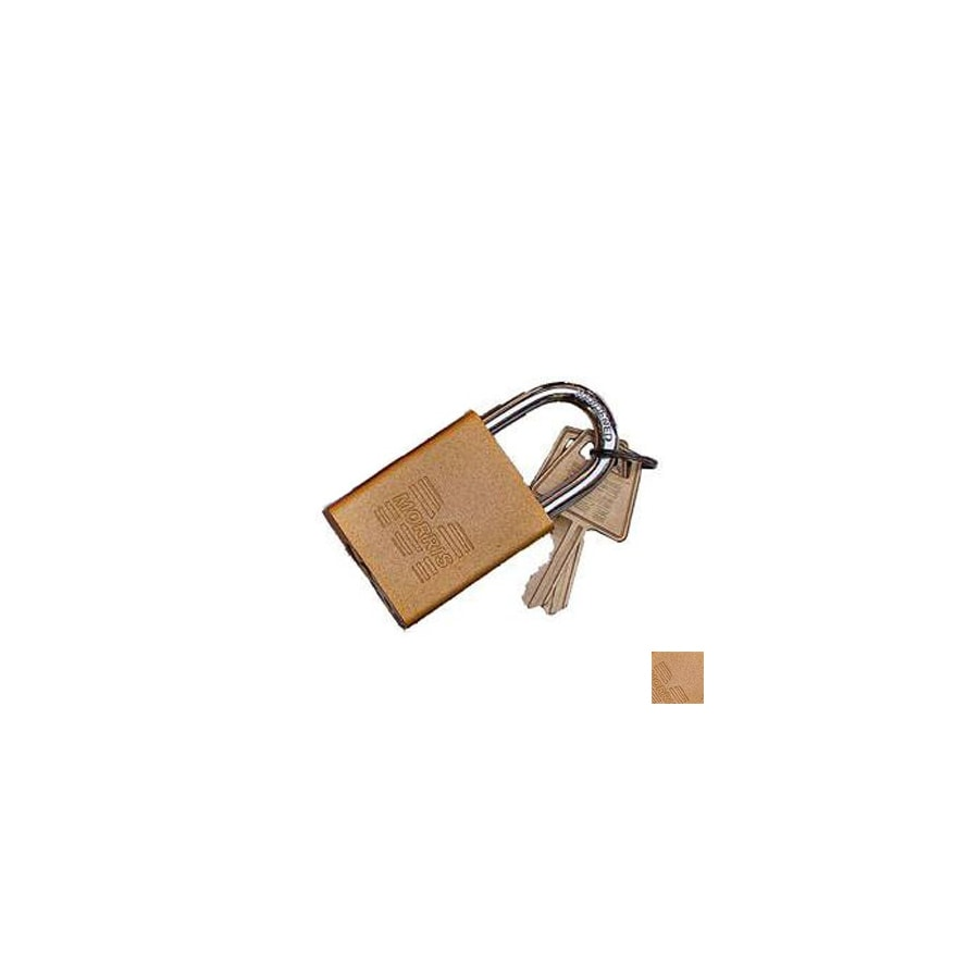 Morris Products 0.75-in Gold Aluminum Shackle Keyed Padlock