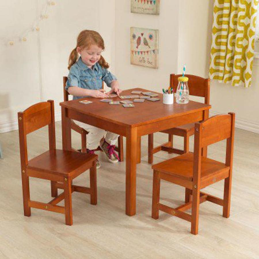 KidKraft Farmhouse Pecan Square Kid's Play Table