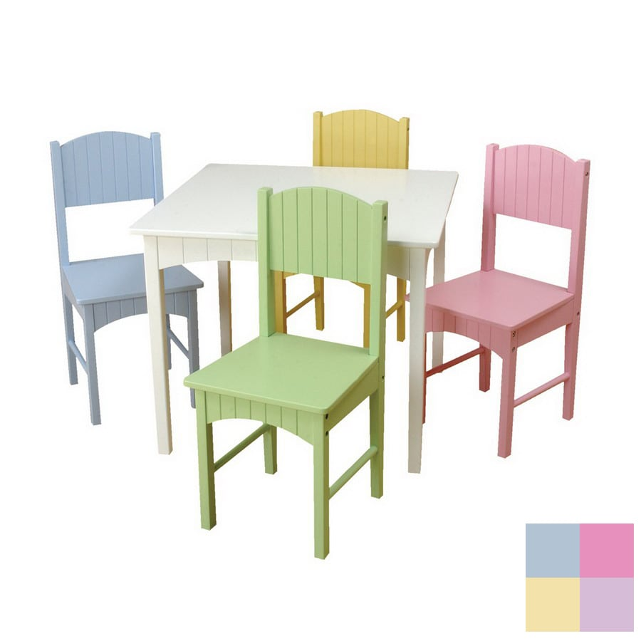 Shop kidkraft nantucket pastel square kid 39 s play table at for Table and chairs