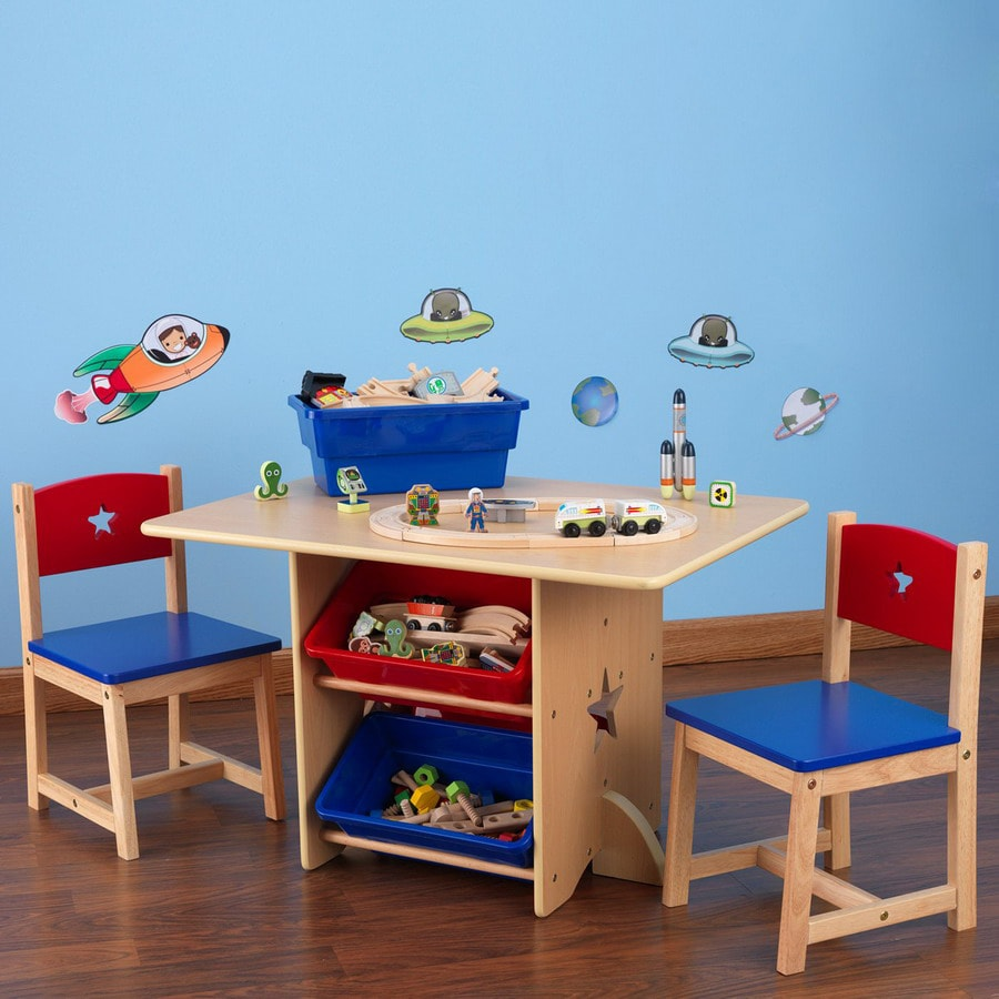 KidKraft Primary Rectangular Kidu0027s Play Table