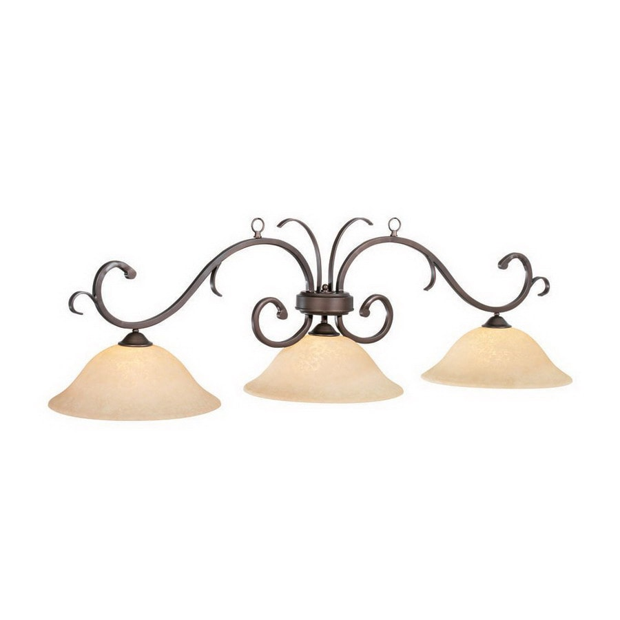 RAM Gameroom Products Lunar W 3-Light Oil-Rubbed Bronze Kitchen Island Light with Shade