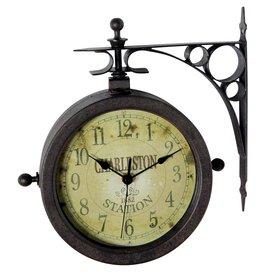 Infinity Instruments The Charleston Analog Round Indoor/Outdoor Wall  Standard Clock