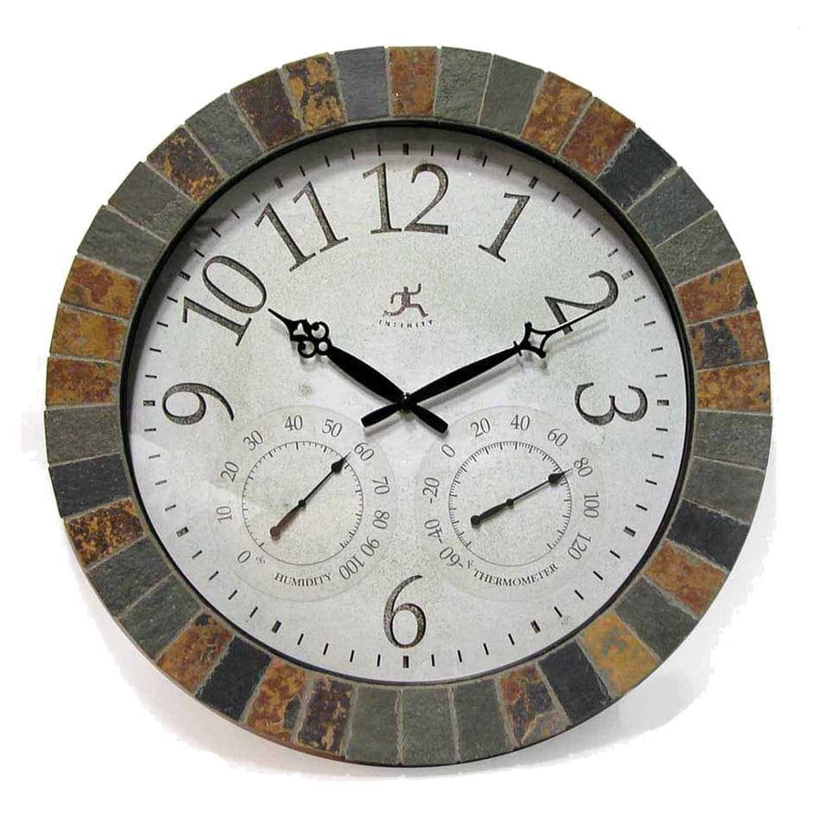 Infinity Instruments The Inca Analog Round Indoor/Outdoor Wall Standard Clock