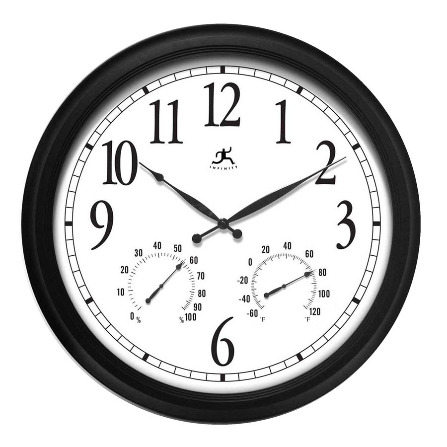 Infinity Instruments The Definitive Analog Atomic Round Indoor/Outdoor Wall Standard Clock