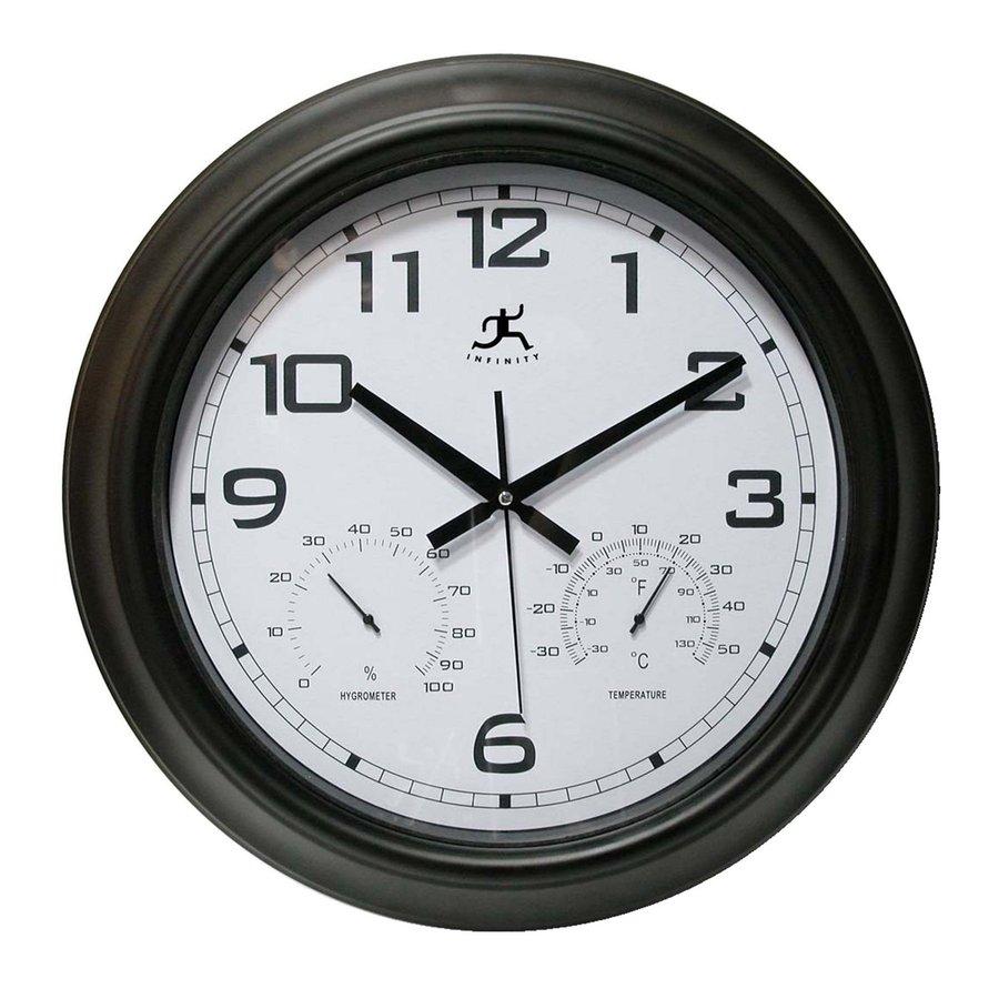 Infinity Instruments Seer Analog Round Indoor/Outdoor Wall Standard Clock